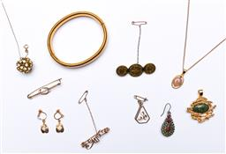 Sale 9190 - Lot 68 - A collection of costume and other jewellery incl bracelets and chains