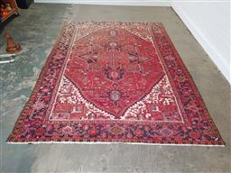 Sale 9255 - Lot 1372 - Persian woollen rug with faded end (355 x 240cm)