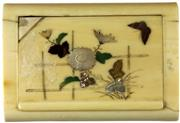 Sale 8057 - Lot 46 - Ivory Floral Cigarette Case