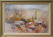 Sale 8203A - Lot 84 - John Lovett (1953 -) - Carcoar Village 60 x 90cm