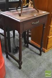 Sale 8262 - Lot 1070 - Timber Side Table with Single Drawer