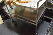 Sale 8346 - Lot 2110 - Stainless Steel Trolley