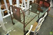 Sale 8440 - Lot 1094 - Childs Metal Doll Bed
