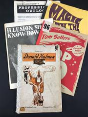 Sale 8539M - Lot 152 - 5 Vintage Vols., including 1922 Donald Holmes Dealer in Magical Apparatus Catalog no. 5; Tom Sellers Top 20 1958; Illusion Show...