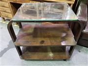 Sale 8648C - Lot 1099 - Glass Top Tiered Side Table