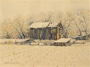 Sale 8682 - Lot 2042 - Harold Demont Olsen (1928 - ) Mid-January Snow, Utah, watercolour, 35 x 47cm, signed lower left -