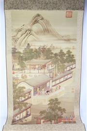Sale 8815 - Lot 86 - A Chinese Scroll Depicting Palace Scene
