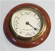 Sale 8976N - Lot 341 - Brass and Timber Cased Wall Mount Tide Indicator (d:205mm)