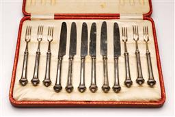 Sale 9122 - Lot 184 - Hallmarked Sterling Silver Entree Suite, Sheffield c1915 By T H & S