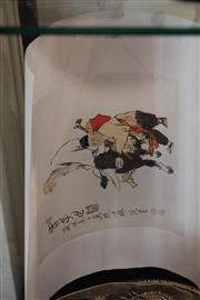 Sale 8047 - Lot 92 - Chinese Ink Painting Depicting Figures with Buffalo