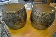 Sale 8099 - Lot 889 - Pair of Chinese Drums