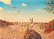 Sale 8652A - Lot 5026 - Heinz Steinmann (1943 - ) - Rock Wallaby, Port Douglas Wilderness 73 x 103cm
