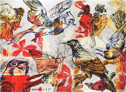 Sale 9150A - Lot 5027 - DAVID BROMLEY (1940 - ) The Birds archival pigment print, ed. 25/30 55 x 74.5cm (frame: 79 x 99 x 4 cm) signed lower left (with cert...