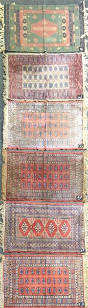 Sale 8843 - Lot 1055 - Collection of Five Silk Blend Floor Rugs and a Kilim Example (110 x 65cm)