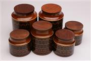 Sale 9052 - Lot 82 - A Suite of 6 Hornsea Ware Kitchen Cannisters