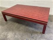 Sale 9076 - Lot 1065 - Bamboo Finish Coffee Table by Piccoboni (h:35 x w:130 x d:80cm)
