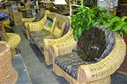Sale 7987A - Lot 1039 - Wicker 3 Piece Over Sized Lounge Suite