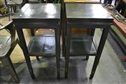 Sale 8099 - Lot 830 - Pair of Tiered Chinese Side Tables