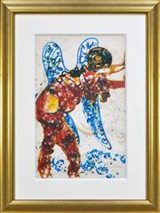 Sale 8309 - Lot 563 - John Perceval (1923 - 2000) - Angel, 1961 70 x 40cm