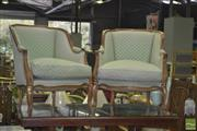 Sale 8331 - Lot 1556 - Pair of French Style Upholstered Tub Chairs