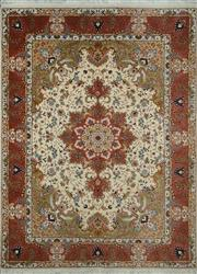 Sale 8402C - Lot 48 - Superfien Persian Silk Tabriz 205cm x 150cm