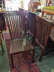 Sale 8566 - Lot 1356 - Set of Eight Slat Back Dining Chairs