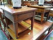 Sale 8570 - Lot 1010 - Pair of Timber Lamp Tables