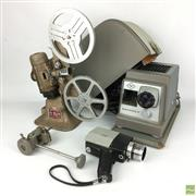 Sale 8649R - Lot 12 - Film Projector with a Slide Projector and a Film Camera