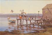 Sale 8652A - Lot 5044 - Robert Hagan (1947 - ) - No Fishing Allowed 60 x 91cm