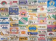 Sale 8872 - Lot 1047 - Wall Mural Banana Fruit Cartons, photograph, 304 x 186.5cm