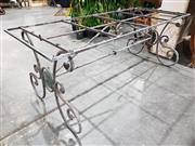 Sale 8971 - Lot 1050 - A Parterre Style Wrought Iron Garden Table Base (H:74 x L:200 x W:80cm)
