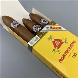 Sale 9165 - Lot 748 - Montecristo No.2 Cuban Cigars - pack of 3 cigars, removed from box dated July 2017