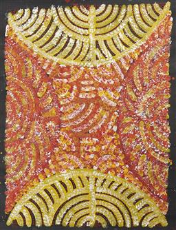 Sale 9256A - Lot 5165 - EILEEN BIRD NAPALJARRI Untitled, 2005 acrylic on canvas (unstretched) 60 x 44 cm inscribed and dated verso