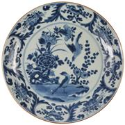Sale 8040 - Lot 35 - Early Qing Export Ware Plate