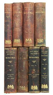 Sale 8169 - Lot 36 - Historical Records of New South Wales Set of Eight Volumes