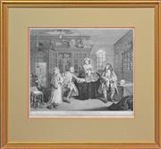 Sale 8306A - Lot 31 - William Hogarth (1697 - 1764) - The Inspection (Marriage a-la-mode Series) 35 x 44cm