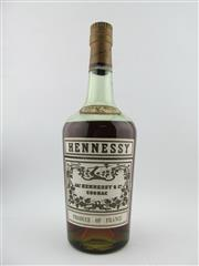 Sale 8385 - Lot 613 - 1x Hennessy Cognac - old bottling, probably 750ml (unmarked), some evaporative losses