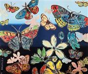Sale 8592A - Lot 5029 - David Bromley (1960 - ) - Butterflies 76.5 x 91cm (frame size: 114.5 x 99cm)