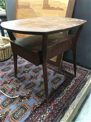 Sale 8951 - Lot 1021 - Hardwood Occasional Table with Single Drawer (H: 57 x W: 57cm2)