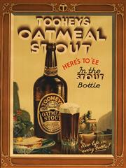 Sale 9077 - Lot 2050A - Walter Jardine (1884 - 1970) - Tooheys Oatmeal Stout: Heres Toee, In the Stout Bottle 50.5 x 38 cm (frame: 61 x 51 x 2 cm)