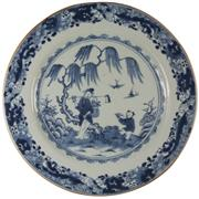 Sale 8040 - Lot 36 - Early Qing Export Ware Plate