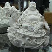 Sale 8236 - Lot 44 - Blanc de Chinese Buddha & Dragon Figure Group