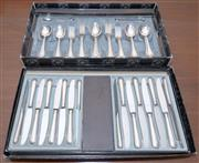 Sale 8346A - Lot 13 - A Strachan EP setting for 8, with additional 4 knives