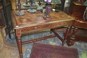 Sale 8359 - Lot 1714 - Eastern Painted Desk with 2 Drawers