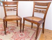 Sale 8380A - Lot 60 - A pair of timber chairs with drop in cane seat