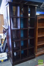 Sale 8550 - Lot 1293 - Tall Stained Timber Open Bookshelf