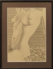 Sale 8659 - Lot 2115 - Artist Unknown (C20th) - Seated Nude, 1989 67 x 47cm