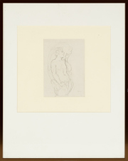 Sale 8795A - Lot 73 - Norman Lindsay (Aust., 1879-1969), A Young Satyr circa 1923, pencil drawing, initialled lower right, 19.8 x 9cm	Minor stains.  A s...