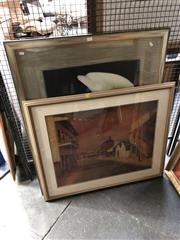 Sale 8803 - Lot 2077 - 2 Works: Russell Drysdale Print together with another Decorative Print of Lilies