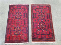 Sale 9166 - Lot 1060 - Two pieces of hand knotted pure wool Persian Khal ( 60 x 90cm)